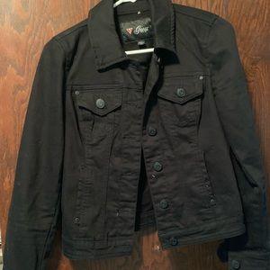 Guess- Black denim jean jacket [small]